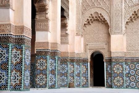 Ali Ben Youssef Madrassa in Marrakech, Morocco.This is a very old Koran school.