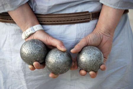 Playing jeu de boules in France