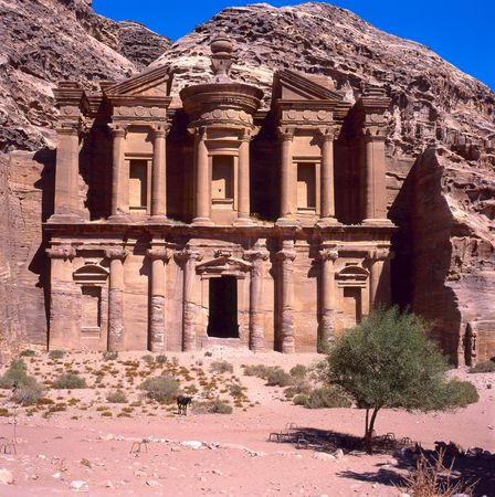 The old city of Petra is an UNESCO World Heritage site Stockfoto