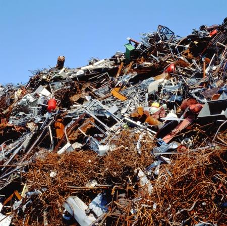 Scrapheap at a scrap metal business Stock Photo
