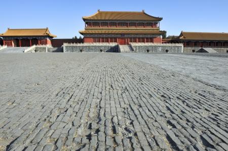 De majestueuze verboden stad in Peking China.