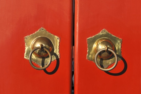 Chinese gate as seen in the Forbidden City and the Temple of Heaven in Beijing photo