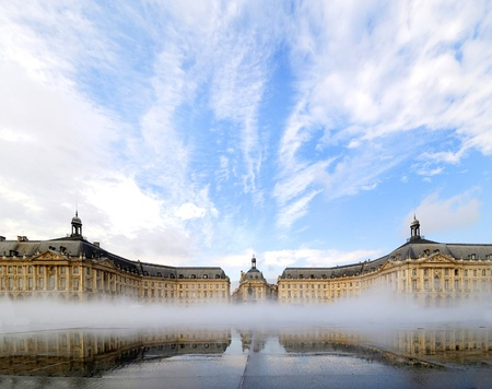 Place de la Bourse in Bordeaux, Frankrijk. Stockfoto