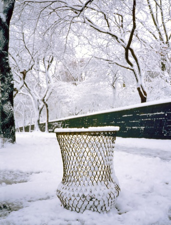 litterbin: Snow in Central Park, New York City , U.S.A.