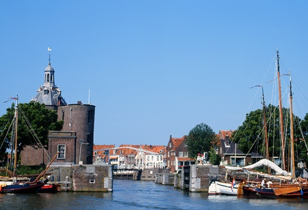 View at the old Harbor of Enkhuizen in the Netherlands Stock Photo - 12473323