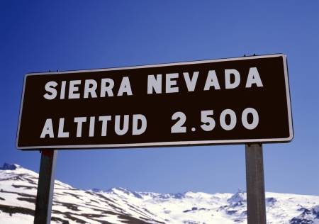 granada: The Sierra Nevada in Spain is one of the best ski resorts in the country..Not only in winter time but also in the summer Stock Photo