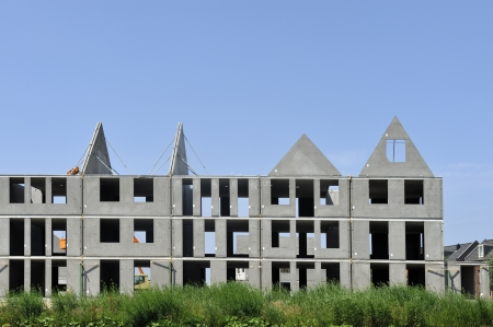 housebuilding: Residential buildings under construction