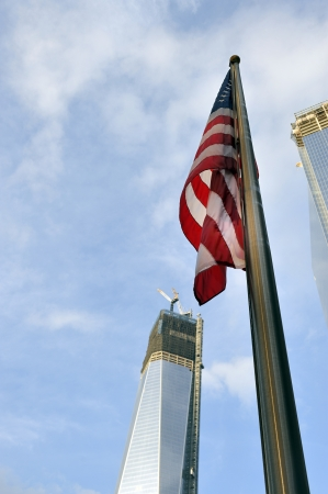 world trade center: United State of America flag