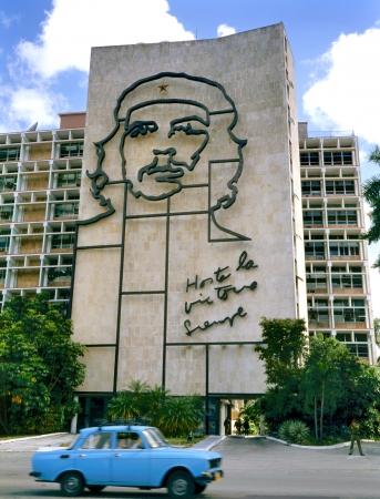 che guevara: Havana, Cuba - April 4  Steel outline of Ernesto   Che   Guevara