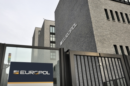 The Hague, The Netherlands January 18, 2014  Photo of the new Europol Headquarter in The Hague, Den Haag, with the Europol sign  January 18,2014 The Hague, The Netherlands Redactioneel