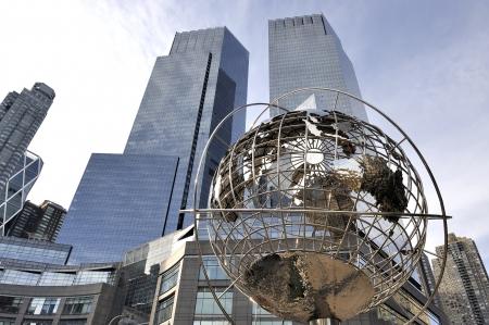 u s a: New York,U S A -November 15,2012; Globe at Columbus Circle, Manhattan, New York  November 15,2012,New York