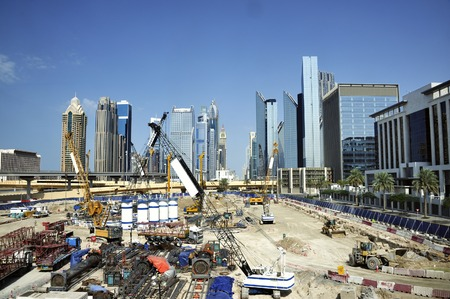 Construction site in Dubai with no people photo