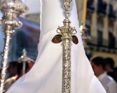 semana santa: Procession during the Semana Santa in Spain this is the Holy week before Easter