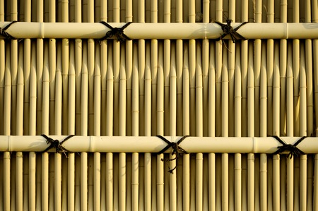 very good: bamboo fence very good to apply as background Stock Photo
