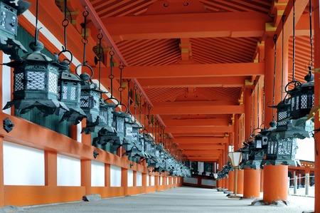 worshipers: Nara,Japan-November 2014, Kasuga Taisha Shrine is famous for its lanterns, which have been donated by worshipers.