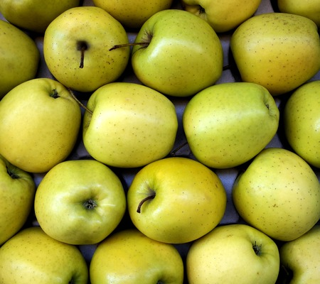 greengrocer: Green Apples at a greengrocer in France Stock Photo