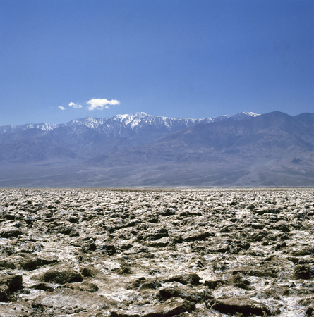 Famous salt formations at Devils Golf Course in Death Valley National Park, California, USA