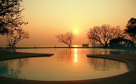 rive: Sunrise at  Hua Hin Beach, Thailand