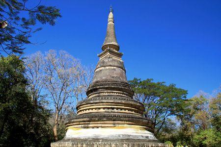 rive: Pagoda of  Wat Umong , Chiang Mai, Thailand.