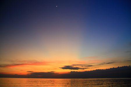 Bright sea sunset , Thailand photo