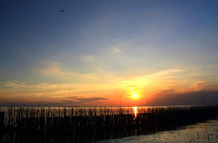 Bright sea sunset, Thailand  photo