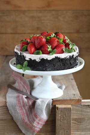 Strawberry cheesecake photo