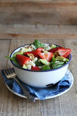spinach salad: Quinoa salad with strawberry,avocado and spinach