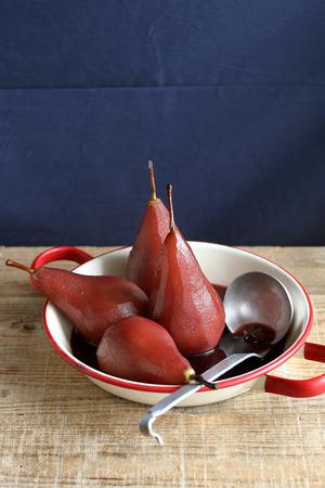 洋梨の赤ワイン 写真素材 - 38000798