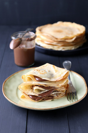 crepes: Crepes con crema de chocolate