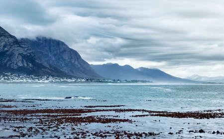View over Walker Bay from Bientang's Cave, Hermanus, South Africa.