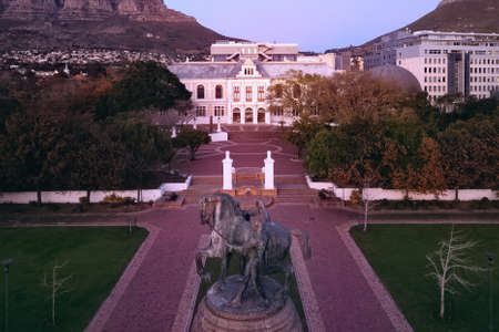 Aerial view of the Iziko South African Museum and Delville Wood Memorial in Cape Town, Western Province, South Africa. 25 July 2021.