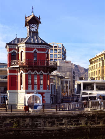 Morning view of the eastern side of Cape Town's V&A Waterfront. Western Province, South Africa. 24 July 2021. Editorial