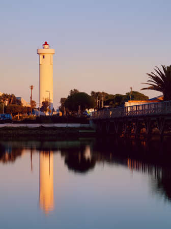 Sunrise view of The Milnerton Lighthouse located on the Table Bay shore in Milnerton, Cape Town, South Africa.
