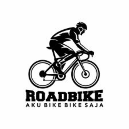 Bicycle road bike logo design vector