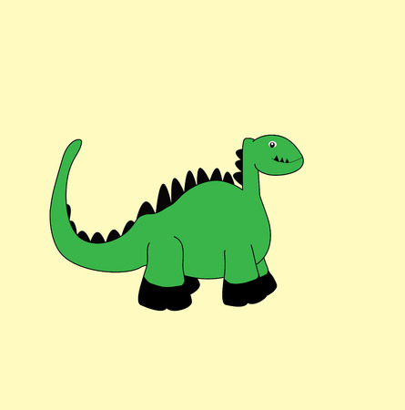 Hello Dino Cute Cartoon