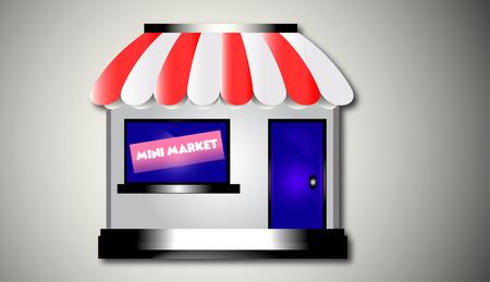 Minimarket Background Design Illustration Vectores