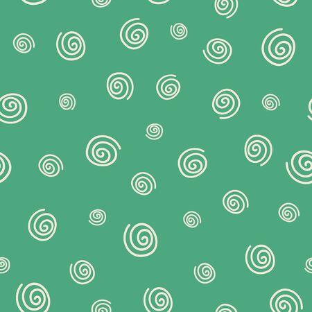 Retro green spiral seamless pattern print background design. perfect for retro design interiors. Surface pattern design Standard-Bild - 134751704