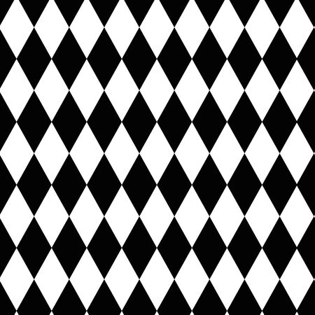 Black and white diamond pattern seamless pattern