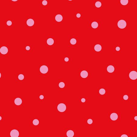 Seamless pink dots on background pattern print 向量圖像