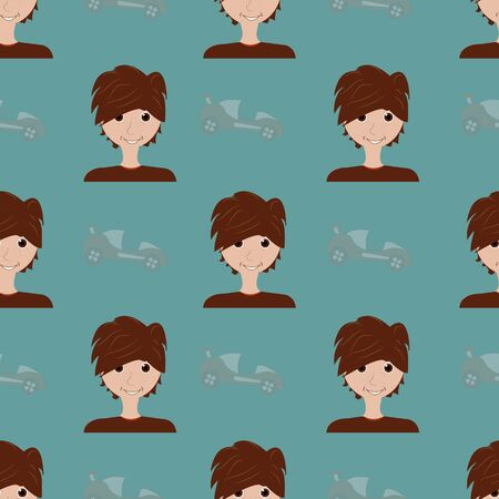 Old green boys repeat pattern print background design. Surface pattern design. Perfect for boys stuff