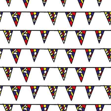 Colorful flag line seamless repeat pattern print 일러스트
