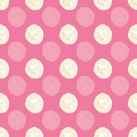 Off white Hand paint dots vector repeat pattern