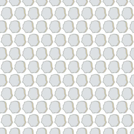 Silver stones repeat pattern print vector seamless