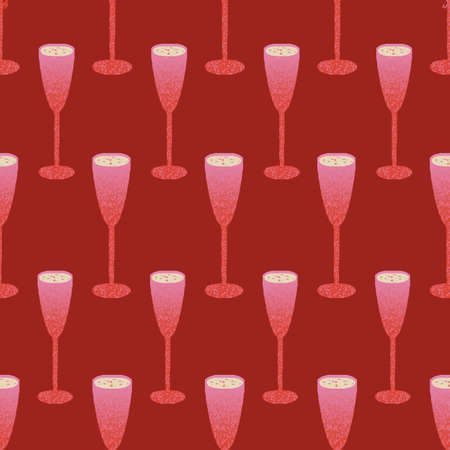 Glasses with wine or Champagne repeat pattern