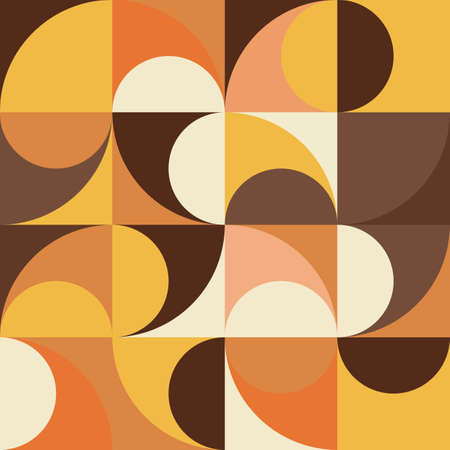 Yellow, orange and brown vintage abstract seamless