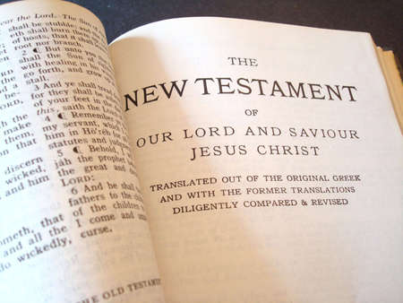 king james: Bible The New Testament                                 Stock Photo