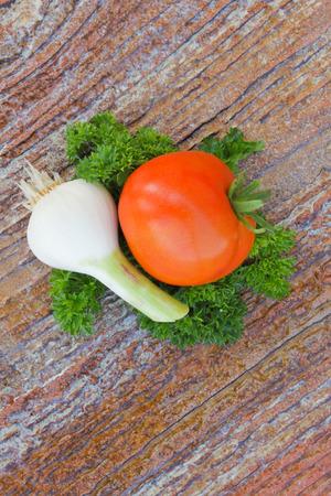 Tomato and garlic photo