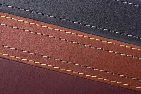 The texture is different color leather straps Archivio Fotografico