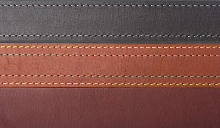 The texture leather straps