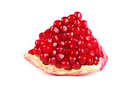 Pomegranate isolated on white background. Macro.